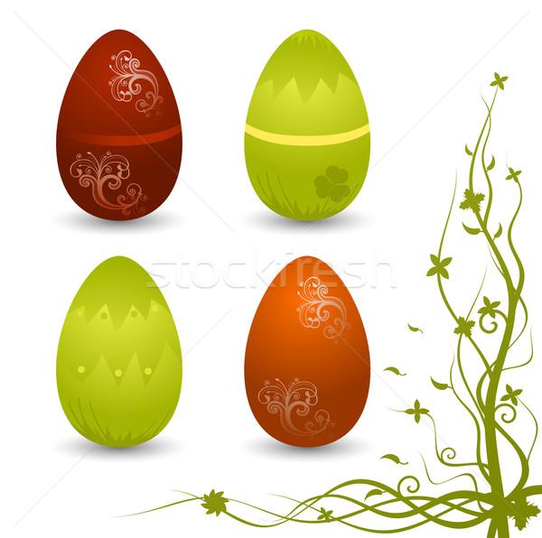 Ingesteld vector eieren paaseieren abstract ei Stockfoto © Elisanth