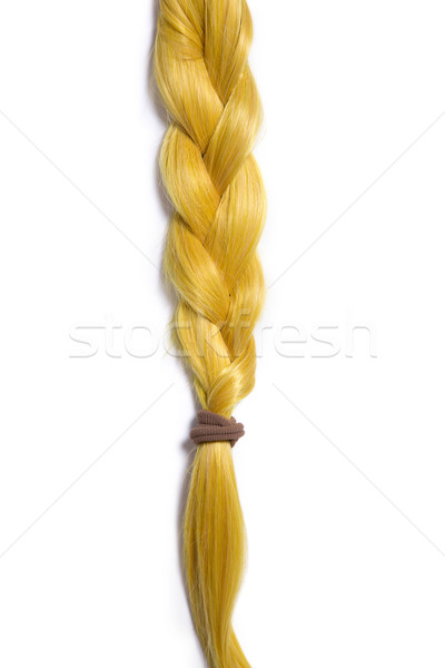 Golden blond hair braided in pigtail  Stock photo © Elisanth
