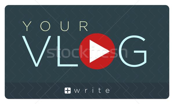 Vector illustration of vlog banner   Stock photo © Elisanth