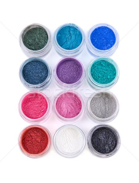 Set colorato minerale occhi ombre top Foto d'archivio © Elisanth