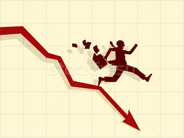 Stock photo: Vector concept of financial crisis
