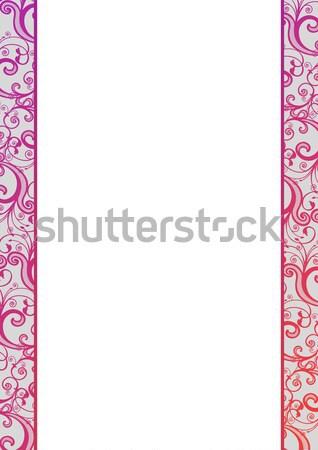 ベクトル ピンク パターン 隠された 白 ストックフォト © Elisanth