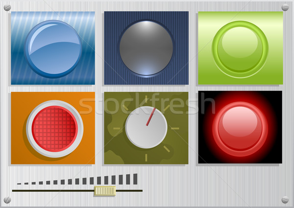 вектора Кнопки Pack различный знак веб Сток-фото © Elisanth