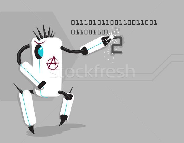 ベクトル 面白い ロボット 書く 番号 デザイン ストックフォト © Elisanth