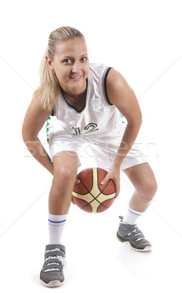 Active female basketball player  Stock photo © Elisanth