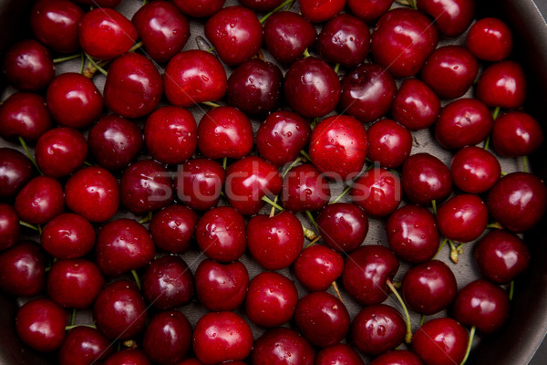 Top view of red cherry background  Stock photo © Elisanth