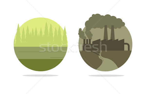 Vector ecology concept Stock photo © Elisanth