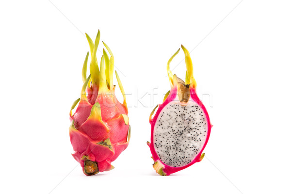 Two dragon fruits, whole and a half  Stock photo © Elisanth
