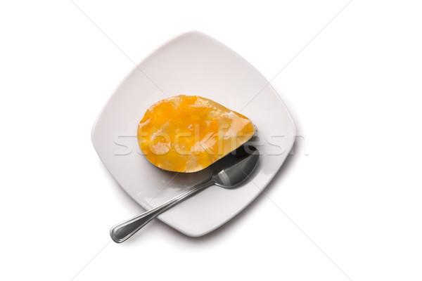 Cake oranje vruchten gelei plaat top Stockfoto © Elisanth