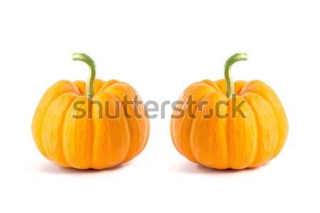 Iki küçük dekoratif turuncu yalıtılmış Stok fotoğraf © Elisanth