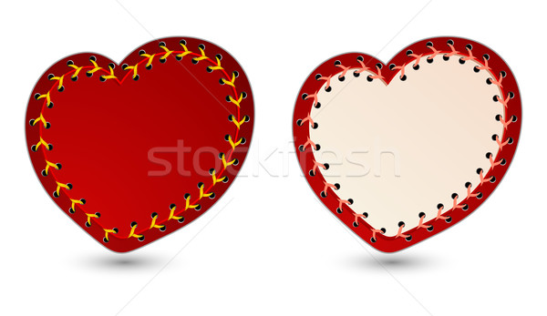 Stock photo: Vector illustration of laced hearts