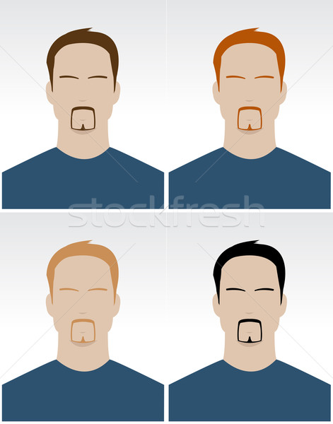 Vector set of simple male faces  Stock photo © Elisanth