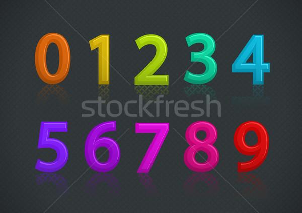 вектора набор красочный номера текстуры Сток-фото © Elisanth