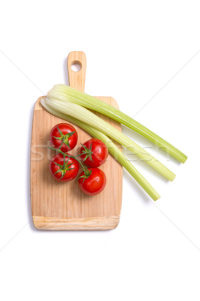 Fresco tomates aipo topo ver Foto stock © Elisanth
