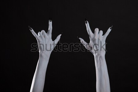 Monster hand showing victory sign  Stock photo © Elisanth