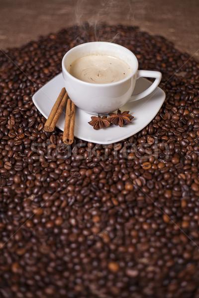 Stock fotó: Kávéscsésze · fahéj · ánizs · kávé · fókusz · csésze