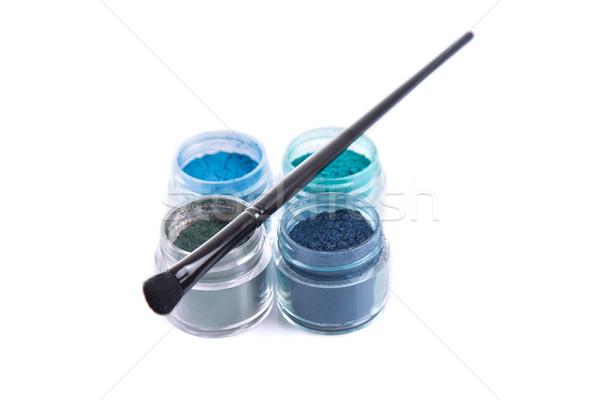 Foto stock: Establecer · mineral · ojo · oscuridad · aislado