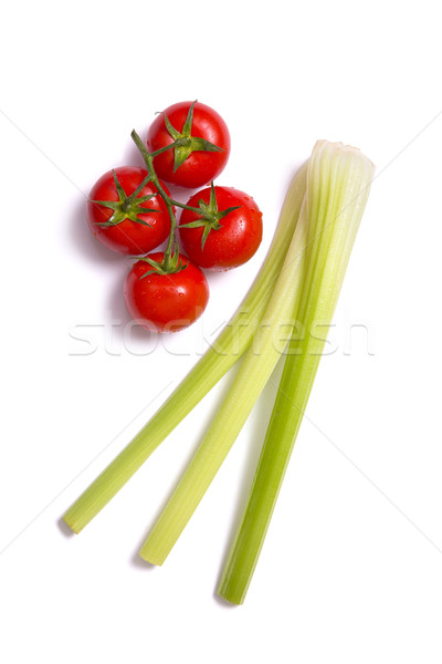 Bunch of fresh tomatoes and celery sticks  Stock photo © Elisanth