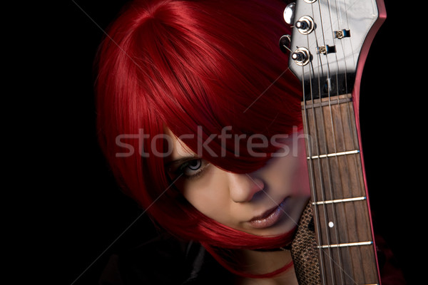 Vampire girl with guitar  Stock photo © Elisanth