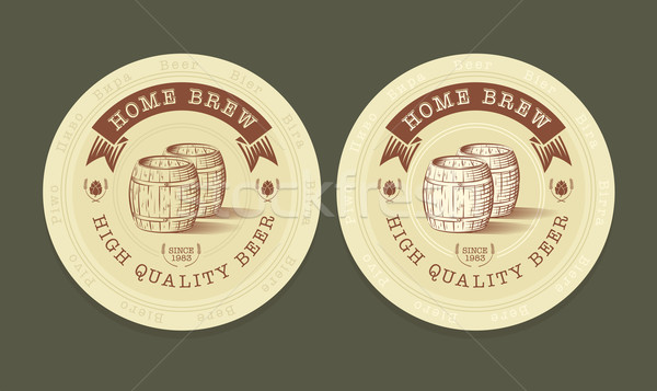 Vector illustration of beer tags  Stock photo © Elisanth