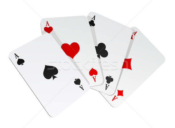 Vector illustration of 4 cards Stock photo © Elisanth