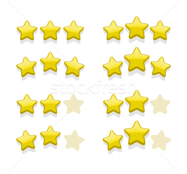 Stock photo: Vector sets of simple yellow stars