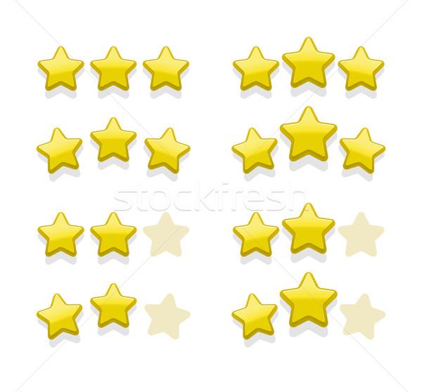 Wektora proste żółty gwiazdki oceniającym ulubione Zdjęcia stock © Elisanth