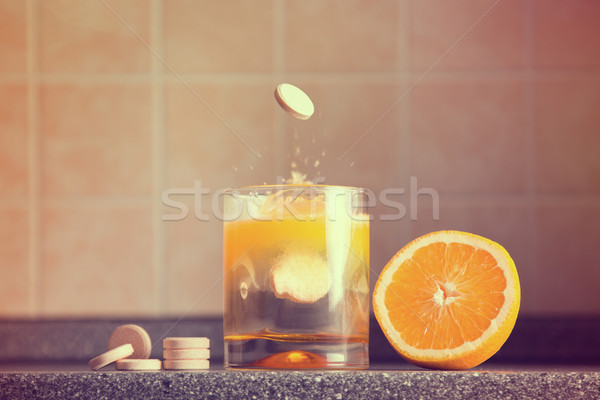 Artistic shot of vitamin C family  Stock photo © Elisanth