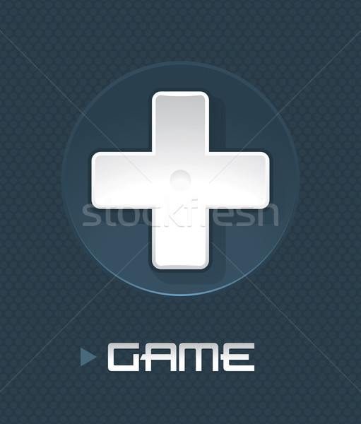 Vector illustration of game controller part  Stock photo © Elisanth