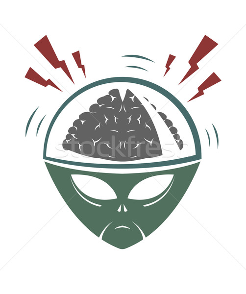 Vector illustration of evil alien invader  Stock photo © Elisanth