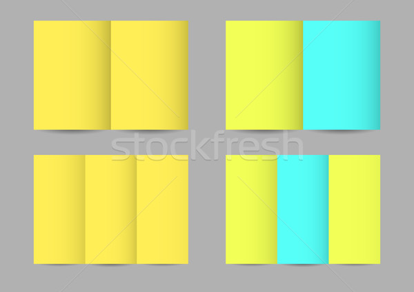 Vector paper leaflets  Stock photo © Elisanth