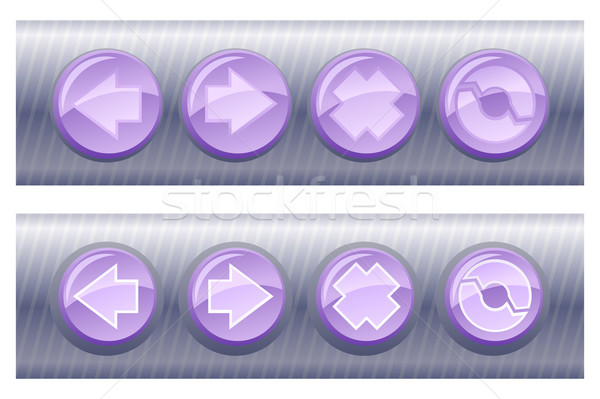 Set of violet browser buttons, on and off  Stock photo © Elisanth