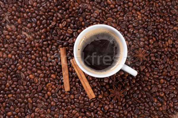 чашку кофе корицей анис кофе текстуры фон Сток-фото © Elisanth