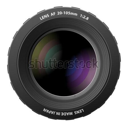 Vector illustration of camera lenses  Stock photo © Elisanth