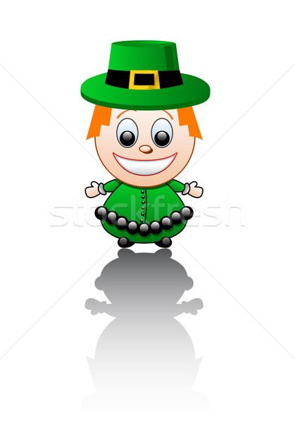 Stok fotoğraf: İrlandalı · erkek · mutlu · çocuk · altın · renk