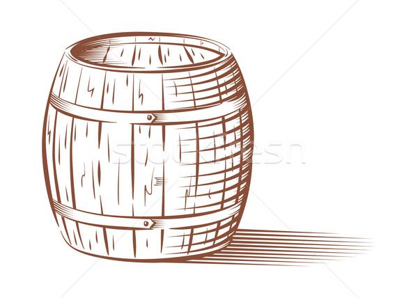 Vector beer or wine barrel  Stock photo © Elisanth