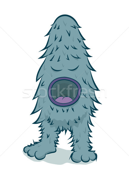 Vector furry blue monster  Stock photo © Elisanth