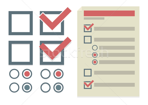 Vector simple design elements for To Do list  Stock photo © Elisanth