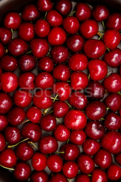 Red cherries with water drops  Stock photo © Elisanth