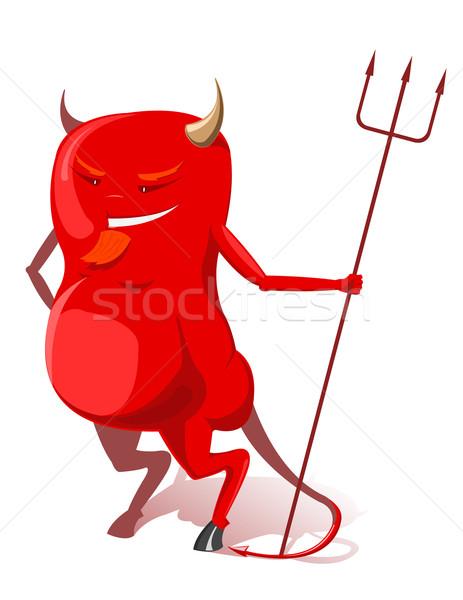 Vector red devil  Stock photo © Elisanth