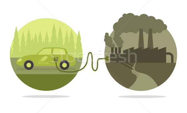 Vector concept of eco car  Stock photo © Elisanth
