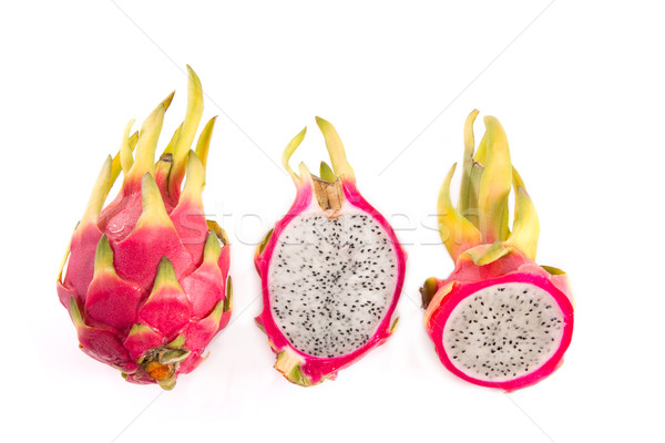 Set of dragon fruits, whole and cut in half   Stock photo © Elisanth