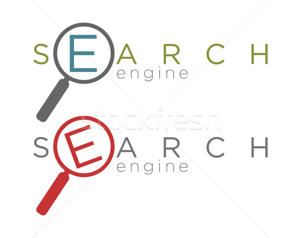 Vector illustration of simple search engine icons  Stock photo © Elisanth