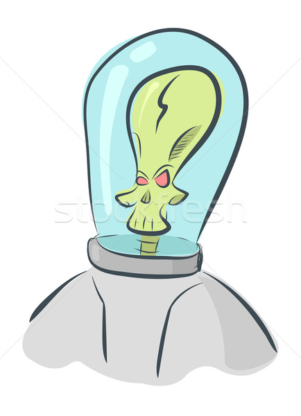 Vector alien invader in helmet  Stock photo © Elisanth