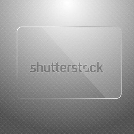 Vektor absztrakt ezüst technológia átlátszó dizájn elem Stock fotó © Elisanth