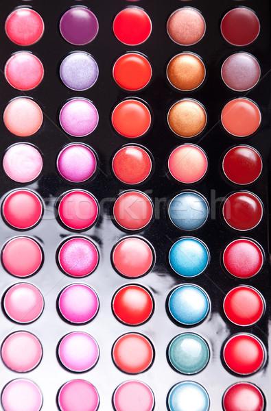 Renkli dudak parlatıcısı paletine doku vücut Stok fotoğraf © Elisanth