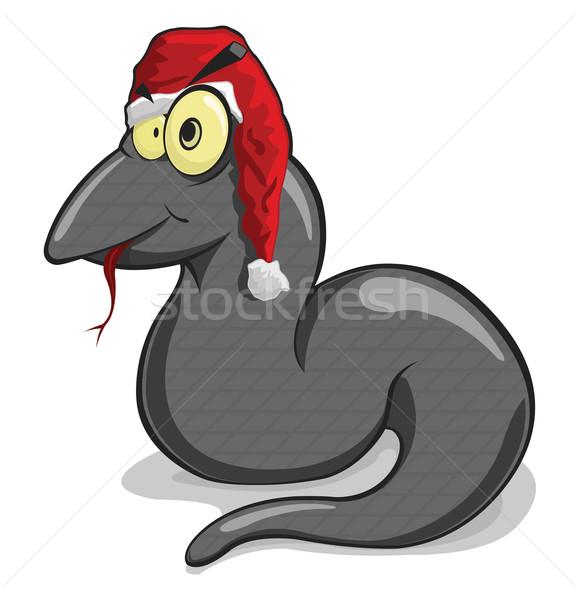 Vector illustration of black snake  Stock photo © Elisanth