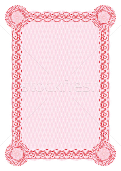 Vector guilloche red border for diploma  Stock photo © Elisanth
