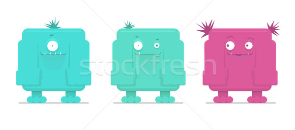 Vector illustration of funny monsters   Stock photo © Elisanth