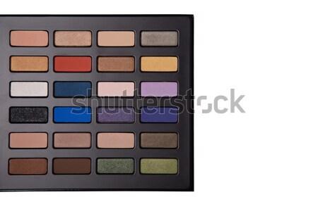 Haut vue fard à paupières palette isolé Photo stock © Elisanth